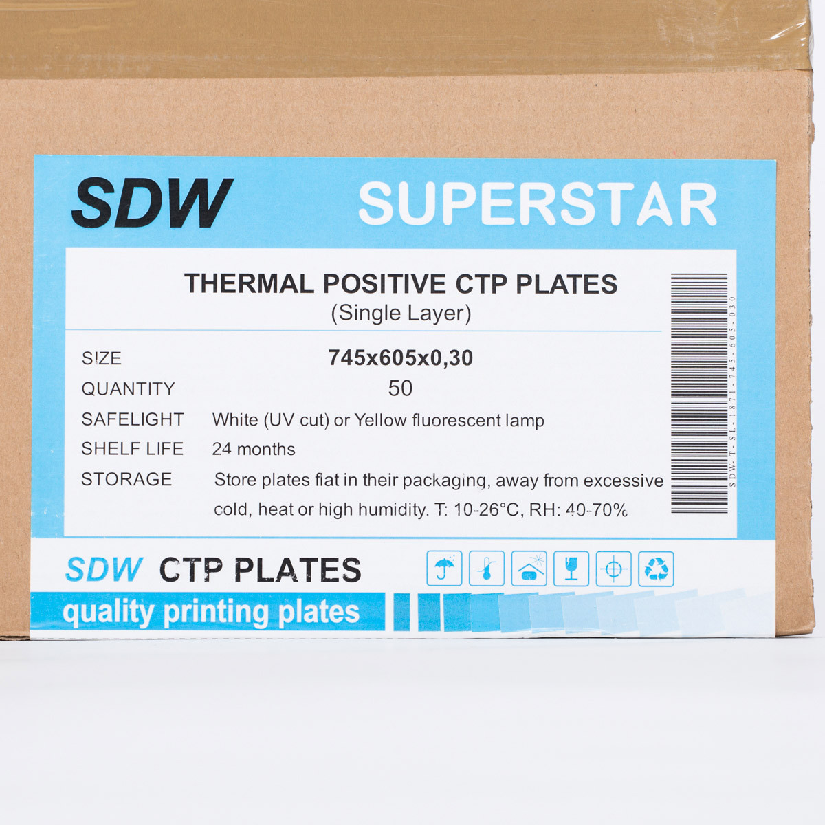 SDW CTP PLATE -single layer 745x605x0,30x50