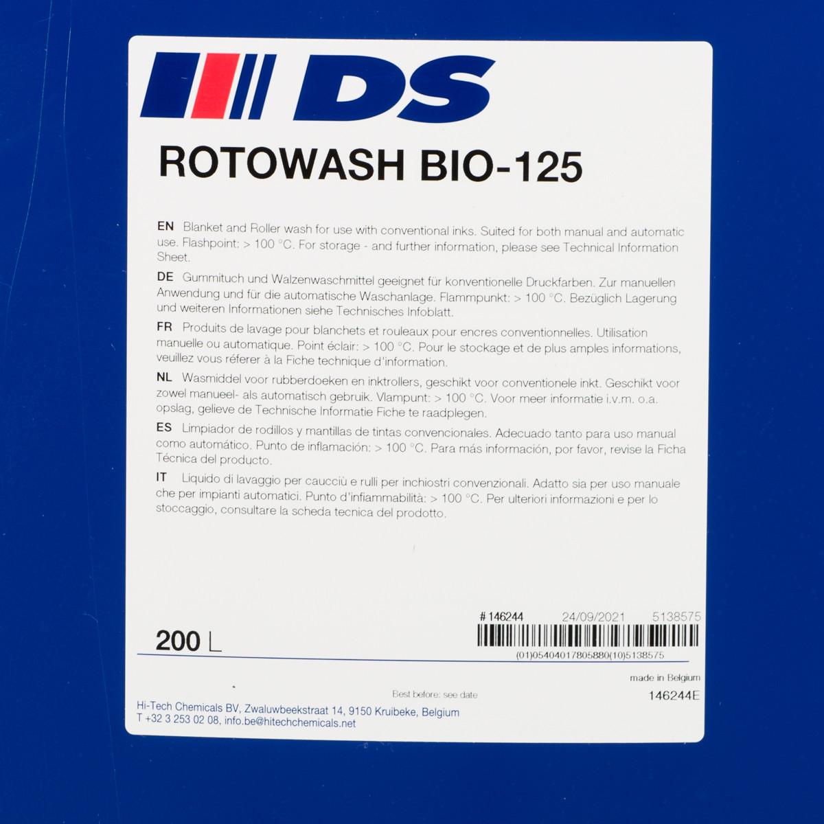 ROTOWASH BIO-125 200 l