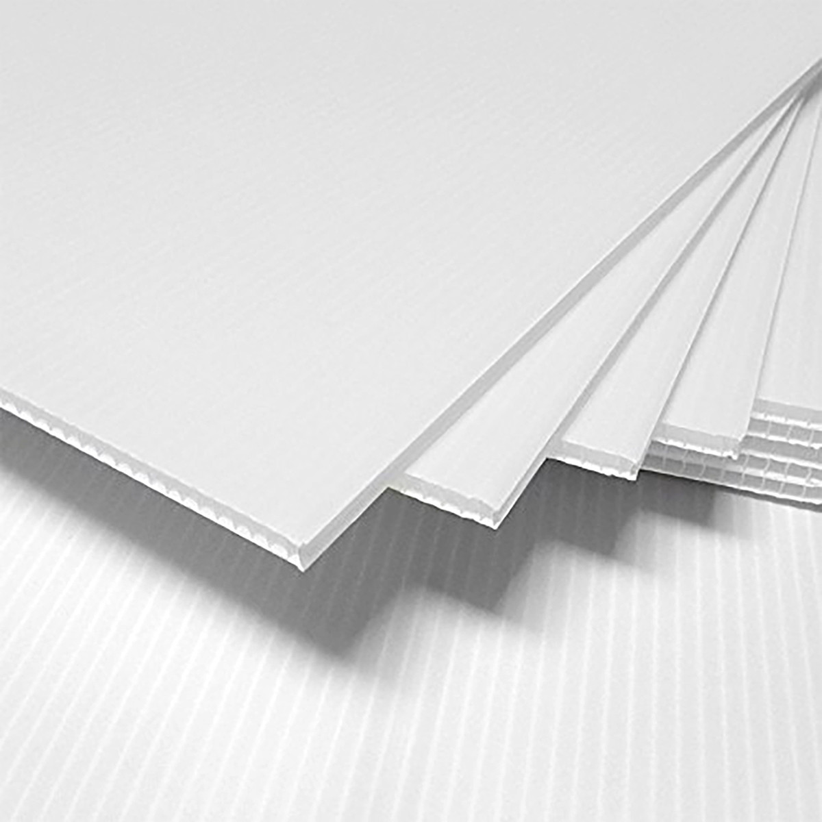 PP saćasta ploča bela 5 mm / 900 gr - 1220x2440mm